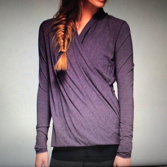Lululemon radiant long sleeve-heathered purple fog
